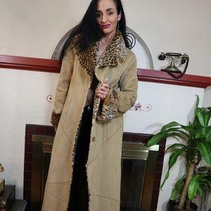 Newport News faux fur heavy trench coat
